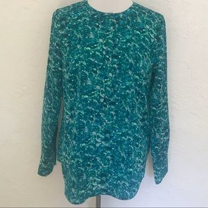 Jcrew size small. Popover. Button front. Poly.